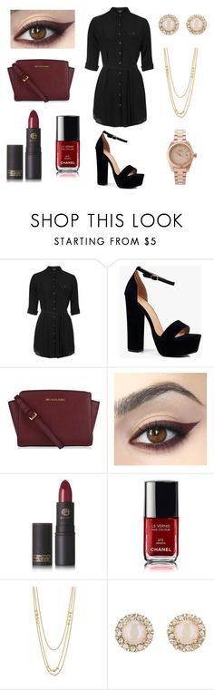 """Business Casual 📱"" by annemarie-robinson on Polyvore featuring Topshop, Boohoo, MICHAEL Michael Kors, Lipstick Queen, Gorjana, Kate Spade and Invicta"