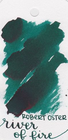 Need the perfect ink for your next fountain pen writing experience? Check out Robert Oster River of Fire, a unique dark teal ink with a hint of red sheen. Check it out! Pin for later.