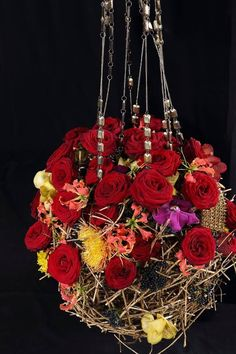 Flower Arrangements with Porta Nova Red Naomi Roses by Araik Galstyan
