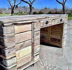 pallet laptop desk diy,made by latelier de romance,,,