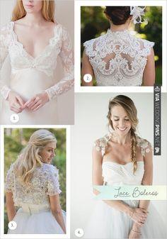 Lace wedding boleros | CHECK OUT MORE IDEAS AT WEDDINGPINS.NET | #weddingfashion