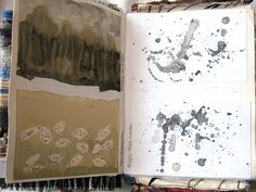 textile artist photography and mixed media - Carolyn Saxby Textile Art St Ives Cornwall Watercolor Sketchbook, Art Sketchbook, Watercolour, Abstract Drawings, Easy Drawings, Moleskine, Carolyn Saxby, Create Drawing, Sketchbook Inspiration