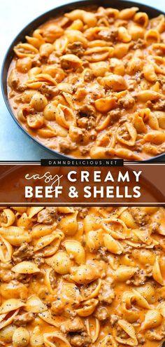 Italian Dinner Recipes, Easy Dinner Recipes, Dinner Ideas, Yummy Recipes, Vegan Recipes, Meal Ideas, Food Ideas, Easy Pasta Recipes, Recipes