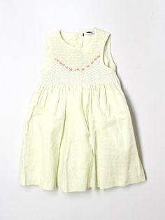 pale green smocked dress