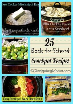 25 Back to School Crockpot Recipes to keep you stress free!#crockpot #slowcooker #backtoschool http://www.stockpilingmoms.com/2014/07/25-back-to-school-crockpot-recipes/