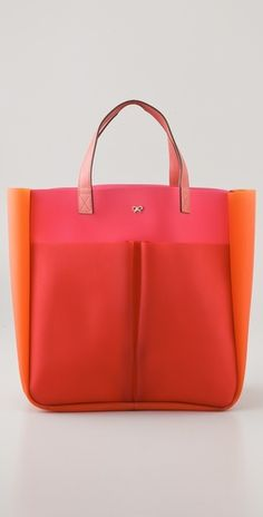 Anya Hindmarch - Nevis Tri Colour Rubber Tote - Color: Pink - #SummerTote!