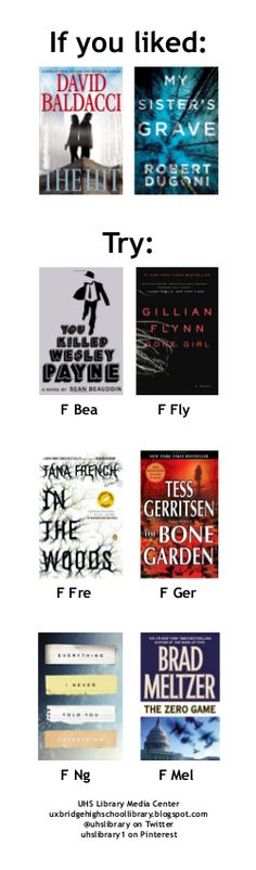 On the bookmark: books like THE HIT and MY SISTER'S GRAVE.