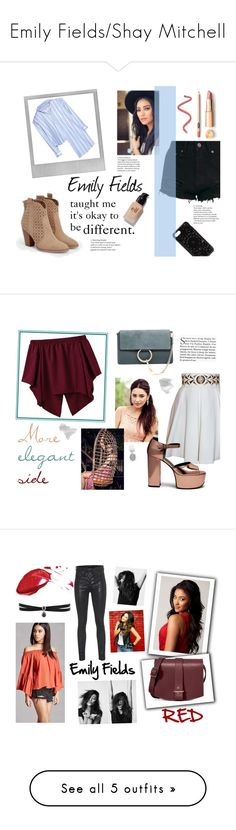 """""""Emily Fields/Shay Mitchell"""" by spencer-hastings-5 ❤ liked on Polyvore featuring JustFab, Polaroid, Felony Case, Vetements, e.l.f., pll, EmilyFields, Balizza, Chloé and Mulberry"""