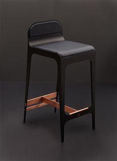 BLACK CHAIRS    Monder leather barstool, Bardot Barstool www.bocadolobo.com/ #inspirationideas #luxuryfurniture #interiordesign