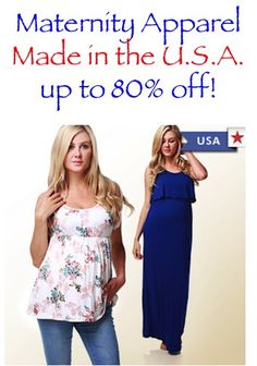 Maternity Apparel: Made in the USA ~ up to 80% off!!  #maternity