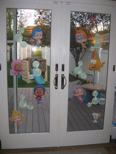 Bubble Guppies Laminated Happy Birthday Party Wall by brightness23, $16.49
