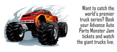 The Auto Parts Monster Jam Hartford show will quite probably also feature a wheelie competition and doughnut contests that will pit the huffing and puffing monsters to show off their agility and off course the enormous power at their disposal.Buy your Advance Auto Parts Monster Jam New Orleans Tickets today and prepare to be blown away by this spectacular sport.  www.ticketluck.com