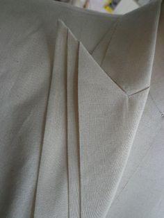 Triple Lapel - jacket design with origami collar detail - modern tailoring; sewing; pattern making; fabric manipulation