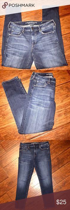 American Eagle 🦅 Skinny Jeans 👖 AEO Super Stretch Skinny Jeans Size 12 Regular American Eagle Outfitters Jeans Skinny