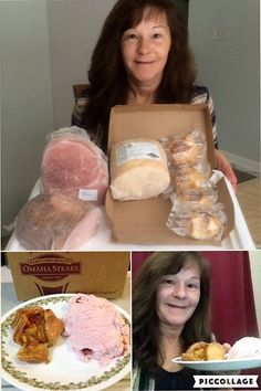 Janise shows off the two Omaha Steaks packages she won for 99% savings! #QuiBidsWin