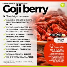 Bacche di Goji: benefici, uso, controindicazioni e dove si comprano The berries of I'm and strengthen the system: discover all the benefits. For Your Health, Health And Wellness, Health Tips, Healthier Together, Fitness Motivation, In Natura, Keto, Diet And Nutrition, Complete Nutrition