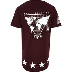Red world champs curved hem t-shirt - print t-shirts - t-shirts / vests - men