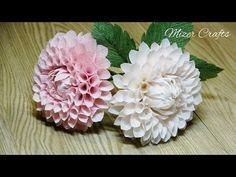 Dahlia, Crepe Paper Flowers Tutorial, Crafty, Bridal, Rose, Creative, Bouquet Flowers, Plants, Diy