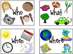 FREE Visual aids for teaching WH questions on this blog