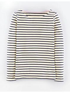 Long Sleeve Breton, Ivory
