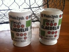 Vintage Round the World Merry Christmas Salt and Pepper Shakers on Etsy, $15.00