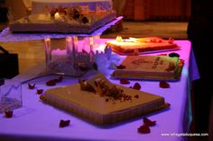 tarta de turrón y chocolate blanco