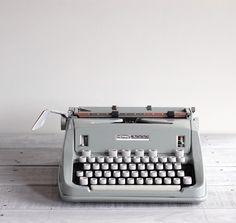 1960s Hermes 3000 Portable Typewriter / Seafoam Green by reclaimer, $198.00