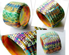 OxanaVolkova on The Polymer Arts blog. Oxana is a mixed media artist with a serious love of color! See her bracelets and more. www.thepolymerarts.com