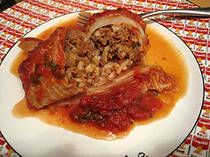 Jewish Stuffed Cabbage or Holishkes. A family favorite of Steve's. I'll be making gluten free and egg free changes to this as well.