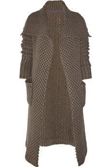 Rick Owens - Alpaca and silk-blend cardi-coat