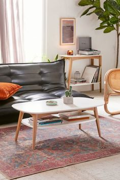 Living Room - Home + Apartment Furniture Coffee Table Urban Outfitters, Table Color, Mid Century Coffee Table, Apartment Furniture, Urban Furniture, Apartment Ideas, Apartment Design, Apartment Essentials, Apartment Goals