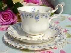 Royal Albert Memory Lane vintage china teacup trio