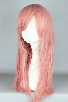 Synthetic Wigs Cosplay Wig Fei-show Synthetic Heat Resistant Fiber Long Curly Inclined Bangs Hair Women Halloween Costume Cos-play Hairpiece Neither Too Hard Nor Too Soft