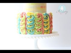 Lilly Pulitzer Inspired, Buttercream Swirl Cake! (And how to make it) - McGreevy Cakes