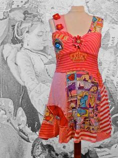 Dress Comics made of existing materials by lodicha on Etsy