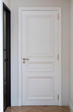 Interior Door Styles, White Interior Design, Interior Modern, House Ceiling Design, Room Door Design, House Design, Contemporary Internal Doors, Condominium Interior, Moldings And Trim