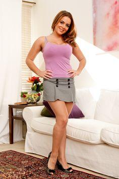 natasha nyce short skirt