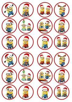 Christmas Minions Edible Wafer Rice Paper Cake Cupcake Toppers x 24 Minion Christmas, Christmas Yard Art, Family Christmas, Christmas Crafts, Christmas Cupcake Toppers, Christmas Cake Decorations, Christmas Cupcakes, Minion Birthday, Birthday Cup