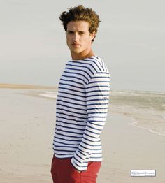 Jourdain specializes in the online sale of Dale of Norway, Elisa Cavaletti and Saint James brands of clothing. Saint James, Christian Lacroix, Breton Stripe Shirt, Breton Stripes, Blue Stripes, Sailor Shirt, Elisa Cavaletti, Preppy Men, Prep Style