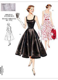 2902 Vogue Vintage Vogue 1950's Style Cocktail Dress