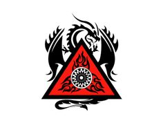 My favorite dragon logo design. Just so powerful with the black and red colors.