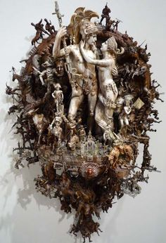 i love kris kuksi. there's tons more of his stuff on his website but these are some favorites. giger was actually good. giger is fine. Sweet Station, Artistic Installation, Unusual Art, Assemblage Art, Oeuvre D'art, Macabre, Sculpture Art, Modern Sculpture, Altered Art