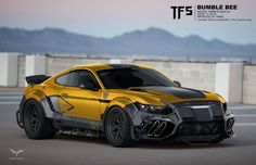Artist Mark Yang has posted his work for Transformers: The Last Knight. These new concept art show off some really cool vehicle modes for Bumblebee and Bar Sport Cars, Race Cars, Mode Cyberpunk, Cyberpunk 2077, Transformers Cars, Tuner Cars, Futuristic Cars, Mustang Cars, Unique Cars