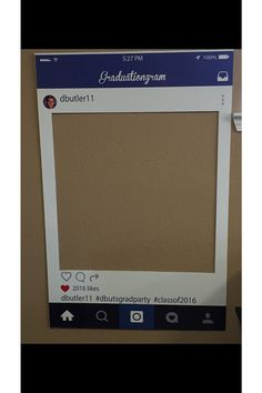 huge printed shipped instagram cutout frame prop graduation wedding birthday party