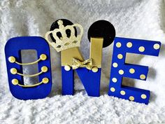 Royal Prince Mickey letters Royal blue and gold letters Prince Birthday Party, Baby Boy 1st Birthday Party, Mickey Mouse 1st Birthday, Blue Birthday, Festa Mickey Baby, Mickey Mouse Baby Shower, Royal Blue And Gold, Royal Prince, First Birthdays