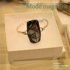 Bracelet en Verre Fusion par Création Jolimain on Facebook  $25.00  Sold jolimain@videotron.ca