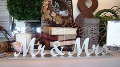 Sign Mr & Mrs Silver Freestanding