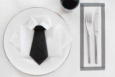 DIY shirt and tie napkin by Nina Holst for Tilbords.no