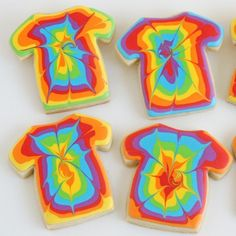 Earlier this summer, my oldest daughter attended a week long Tennis Camp/Vacation Bible School. Before the week of camp, I had planned that I might make some Tennis themed cookies as thank yous for all the teachers/volunteers. My plans changeda bit when I saw the rainbow tie-dye camp shirts and realized what fun cookies could …