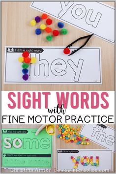 ENGAGING SIGHT WORD ACTIVITIES